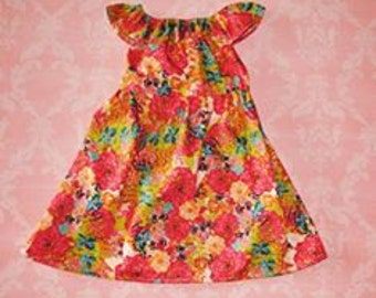 ON SALE! 1920's Floral nelle dress, size 12mos.- 8girls