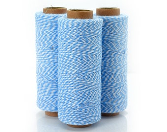 Light Blue Bakers Twine,  136 Yards, 2ply, 410 feet, Bakers Twine, Cotton Twine