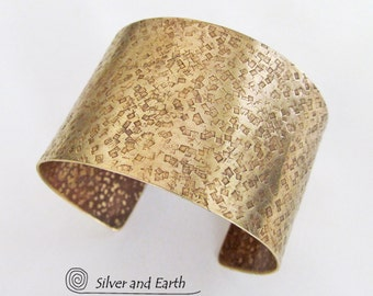 Gold Cuff Bracelet Hammered Brass Cuff Bold Exotic Ancient Egyptian Metal Jewelry Handmade Boho Chic Statement Jewelry Wide Cuff Bracelet