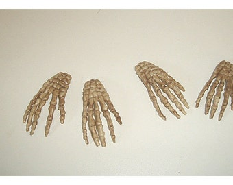 Halloween Skeleton Hands/ Set of 4*/Holiday/ Craft Supplies*