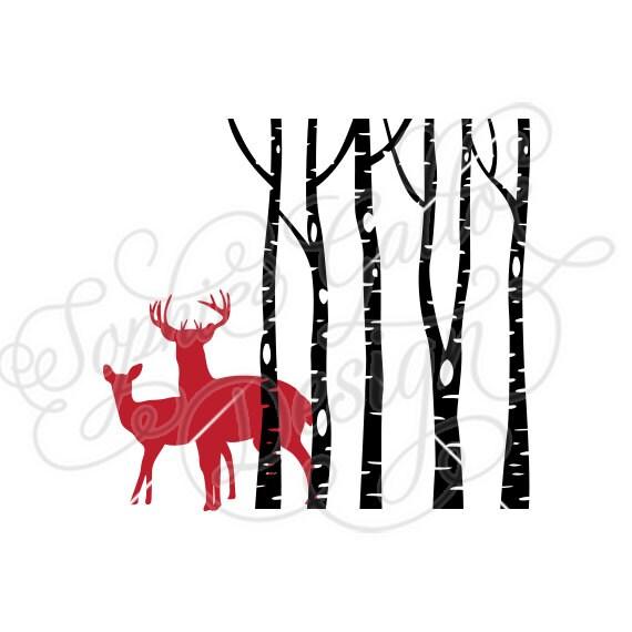 Deer in Woods Forest SVG DXF digital download files ...