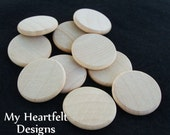 1 inch (Lot of 250) Wooden Round Circles / Discs DIY Unfinished Wood Crafting Pieces