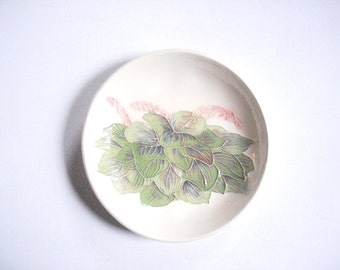 Hosta dish   Ceramic Watercolor one-of-a-kind                                                                                  h1