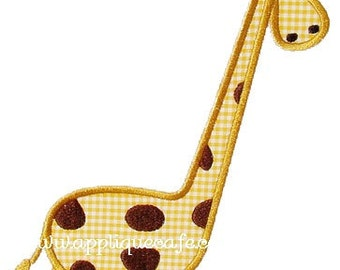 305 Giraffe 2 Machine Embroidery Applique Design