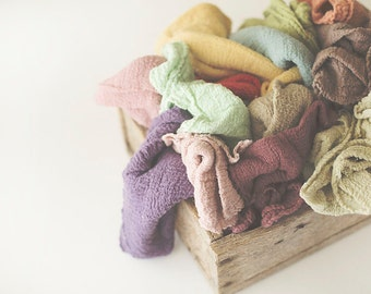 PICK any 4 Newborn Wraps, Baby Wraps, Cheesecloth Wraps, Photography Prop, Newborn Photo Prop, wrap, cheese cloth, newborn, baby,