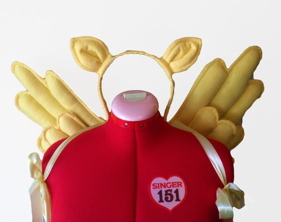 Costume Yellow Pegasus, Wings and Ears.