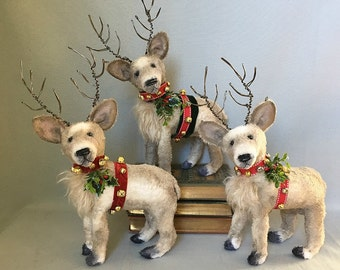 Reindeer, custom keepsake, Christmas, deer ~ Brady Bears Studio ~ mohair, viscose, teddy, bear, ooak ~ hafair, faap
