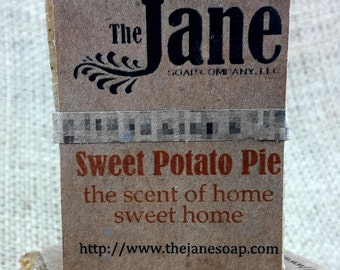 Small Sweet Potato Pie Soap - Old Fashioned - Vegan Lye Soap