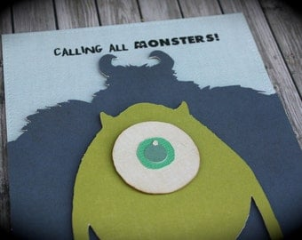Calling All MONSTERS - MONSTERS INC inspired invitation