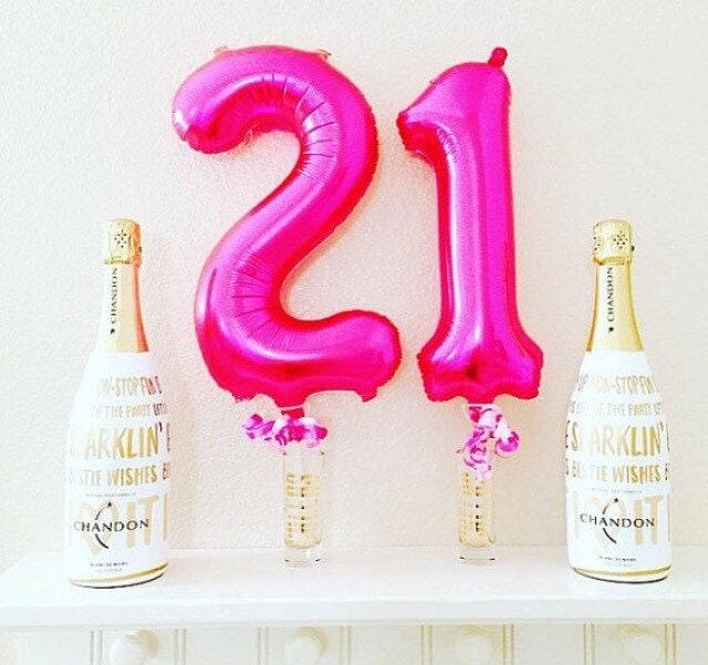 Pink 21 Balloon 21st Birthday Photo Prop 21st Birthday