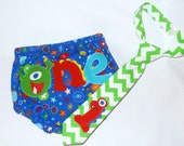 Monster Smash Cake Outfit - Diaper Cover and Tie