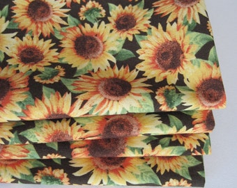 Yellow Sunflower Napkins Yellow and Brown Napkins Yellow and Green Napkins  Yellow Sunflower Table Decor Fall Napkins Golden Yellow Napkins