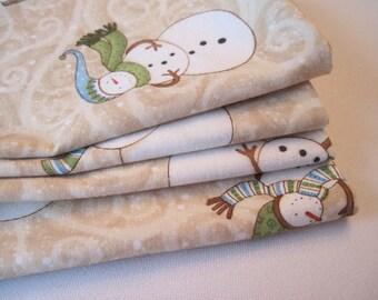 Snowman Napkins White Snowmen Napkins Winter White Napkins  Snowman Napkins Seasonal Napkins Neutral Snowman  Napkins January Napkins