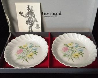 Beautiful Set of Haviland China Coasters MIB