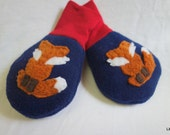 Clever Little Fox Mittens, 0 to 6 Months, Ready to Ship