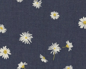 SALE - Art Gallery - The Denim Studio - Ragged Daisies in Indigo Denim