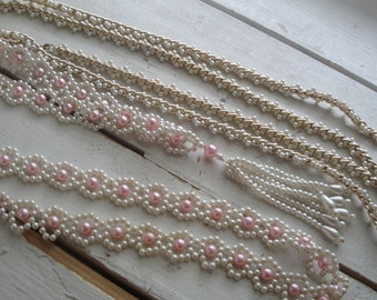 Vintage Pearl Bead Necklaces Set of 2 Flapper