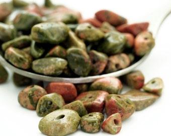 100 - Unakite Chip Beads - 24 Grams - 100% Guaranteed Satisfaction