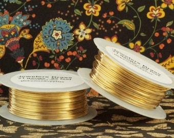 Jewelers Brass Wire - You Pick 4, 6, 8, 10, 12, 14, 16, 18, 20, 21, 22, 24, 26, 28, 30, 32 gauge - 100 Percent Guarantee