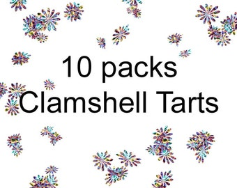 Soy Wax Clamshells - Soy Melts - Soy Tarts - Choose 10 fragrances - Soy Wax Melts - 10 Clamshell Soy Tarts - Dye Free Soy Melts - soyNsuds