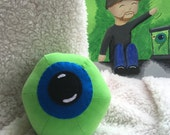 """Limited Quantity, CORDUROY Jack Septic Eye Plushie! 5.5"""" Round Plush Ball/Toy. Jacksepticeye Youtuber, Cotton Fabric."""