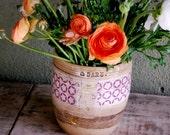 ceramic flower vase, unique ceramic vase, modern vase, handmade pottery vase, pottery flower vase,gold vase