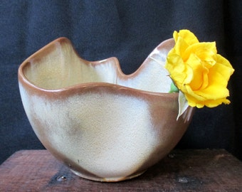 FRANKOMA Handkerchief Bowl, Vintage Planter, Candy Bowl, Cottage Chic decor