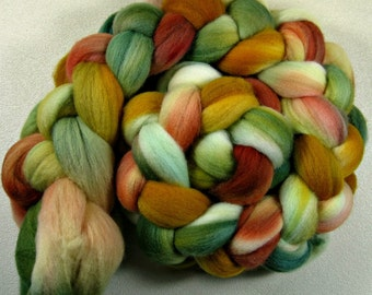 Leaf Peepin' Light merino wool top for spinning and felting (4 ounces)