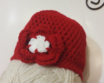 Clearance Handmade Crochet Red Teens Ladies Hat