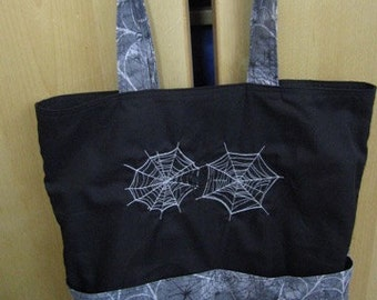 Spooky Spiderweb Eco Friendly Tote, Purse, Bag