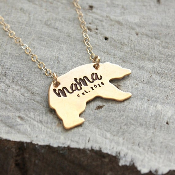 Baby Gift Jewelry For Mom : Mama bear necklace mothers day gift momma