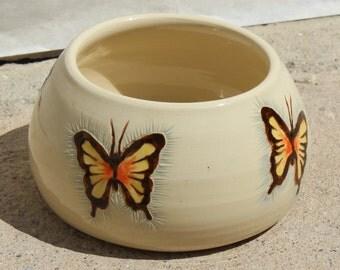 Spaniel Bowl. Spaniel Bowls. Spaniel Dog Bowl. Water. Water Bowl. Dog Bowl. Butterfly. Butterflies. Unique. Handmade. Ceramic Butterfly.