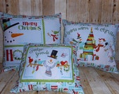 Snowman Christmas -  Set of 3 Throw Pillow (COVER ONLY)