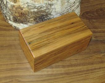 Ambrosia Maple Wood Jewelry, Keepsake or Trinket Box