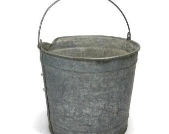 Galvanized Farm Bucket Rustic Pail