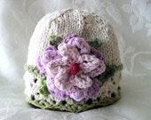 Baby Hat Knitting Knit Baby Hat Hand Knitted Baby Hat Cotton Knitted Baby Hat Easter Colors Knitted Baby HatNewborn Baby Hat Baby Hat Girl