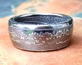 Coin Ring - 1982 Mexican Two Dollar Coin Ring - Maya Culture - Size: 9 1/2