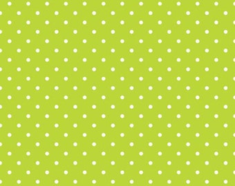 Riley Blake Delighted Swiss Dot Green/White  -  by the Yard