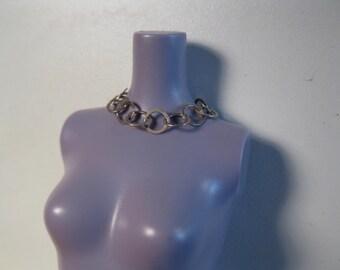 silver circle chain necklace Barbie Blythe Fashion Royalty Silkstone fashion dolls
