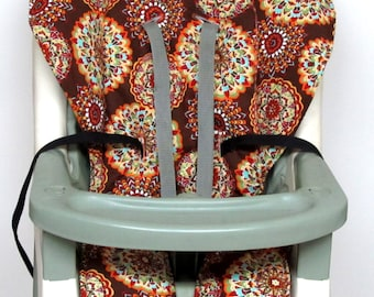 Graco high chair pad, chair cushion, kids and baby feeding chair, baby accessory, chair pad replacement, child care, baby,kaleidoscope brown