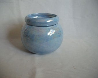 Small Ceramic African Violet Pot Planter / Mother of Pearl