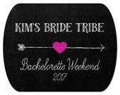 "Personalized Bachelorette Party Stickers - Custom Mint Tin Labels - Bride Tribe Stickers - Bachelorette Weekend Labels - 2"" x 1.6"""