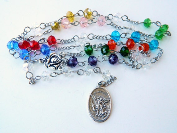 Saint Michael the Archangel Prayer Chaplet Rosary: Angel of Protection and Patron of Police Officers