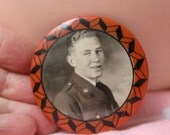 Reserved for Robert Pocket Mirror Celluloid Soldier's Photo VINTAGE by Plantdreaming