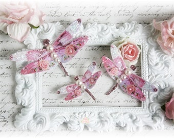 Full of Grace Dragonfly Die Cut Embellishments  for Scrapbooking, Cardmaking, Tag Art, Mixed Media, Wedding