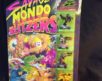 Savage Mondo Blitzers The Sewer Surfers Kenner - 1991