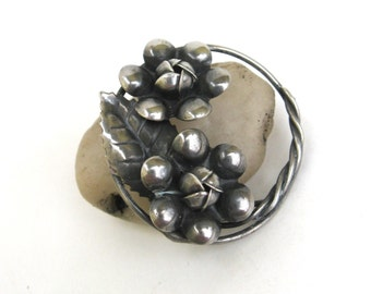 vintage sterling silver pin  ...   flower brooch  ...   vintage gift