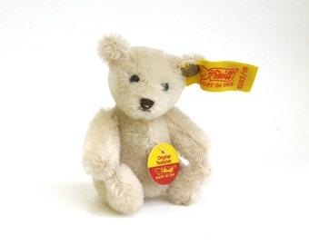 vintage mohair steiff teddy  ...   made in germany  ...  vintage miniature teddy bear