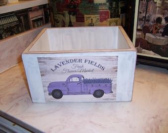 Lavender Fields storage box,French Farmhouse,Paris decor,Paris theme,French rustic,French wedding decor,shabby chic decor,French decor