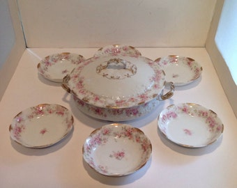 Vintage Haviland Limoges Covered Tureen and Serving Bowls